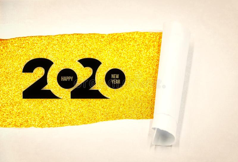 Happy New Year 2020. 2020 New Years eve celebration. royalty free stock photography