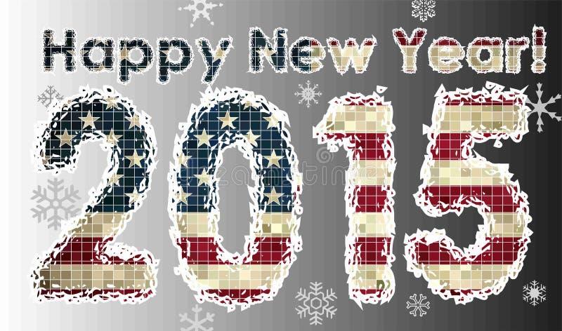 Happy New Year 2015 stock illustration
