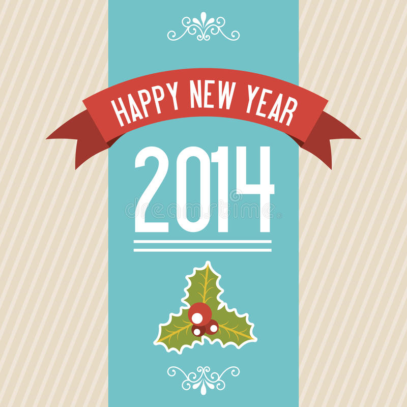 Happy new year 2014 royalty free illustration