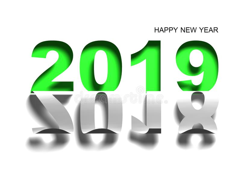 Happy new year 2019 paper royalty free stock photos