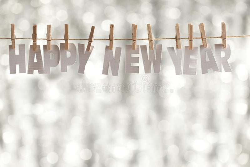 Happy new year - paper letters royalty free stock photos