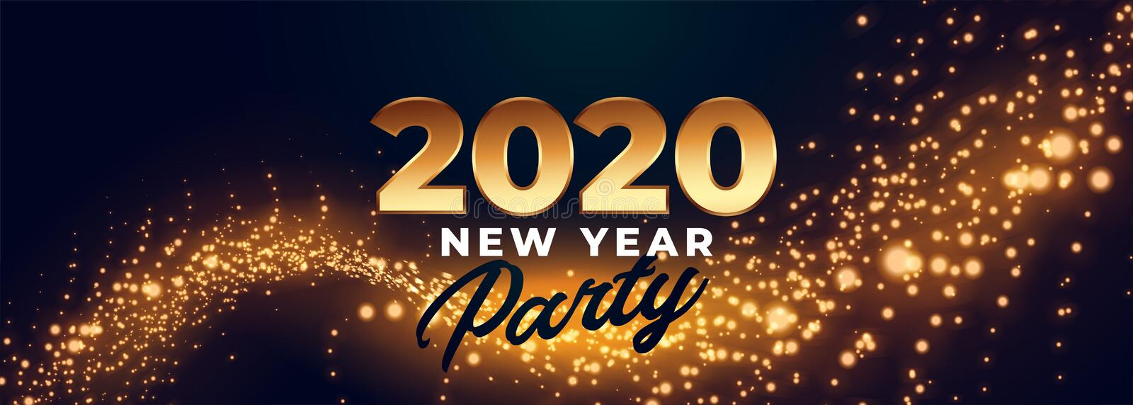 2020 happy new year party celebration banner design vector illustration