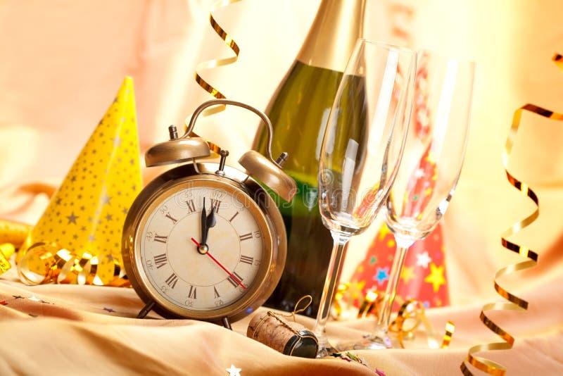 Happy new year - party decoration stock photos