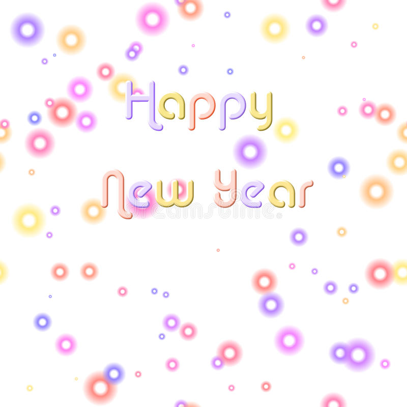 Download Happy New Year & Pastel Bubbles Stock Photography - Image: 12057222