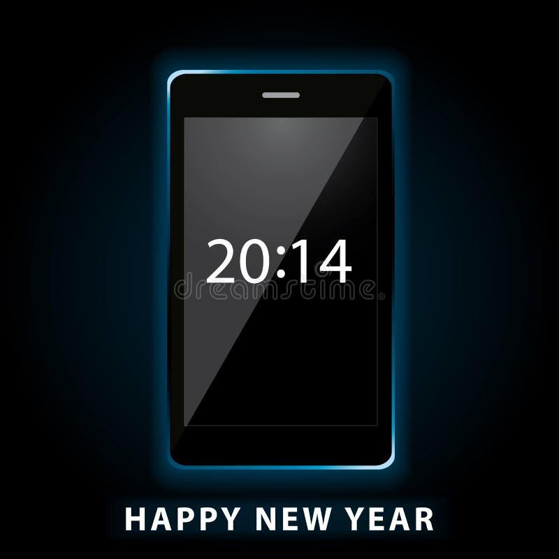 Happy new year phone vector illustration