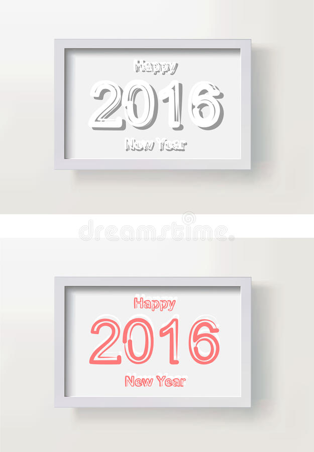 Happy new year picture frame vector illustration