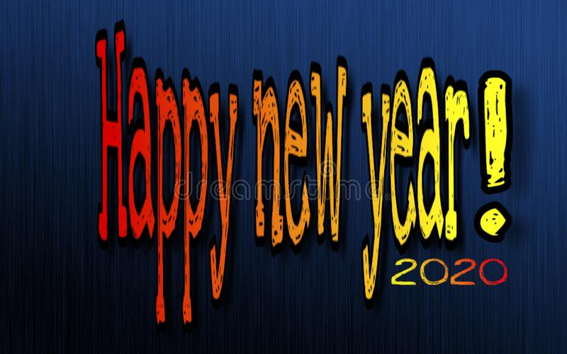 Happy new year 2020 postcard, wallpaper, poster or background vector illustration