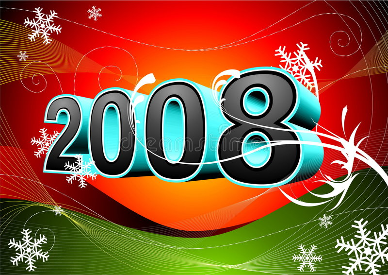 Happy New Year's. Vector new year illustration with number vector illustration