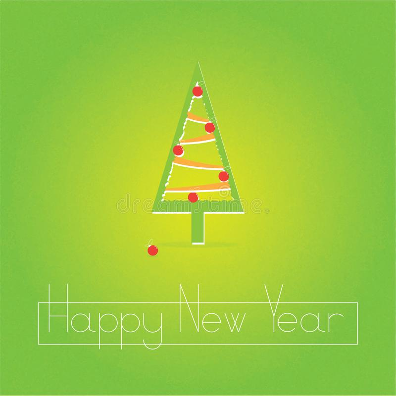 Happy new year`s abstract background with a grainy texture, Christmas tree and Christmas toys royalty free stock photo