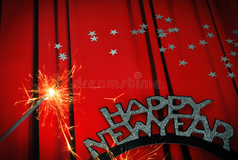 Happy New Year. New Year's Eve stock images