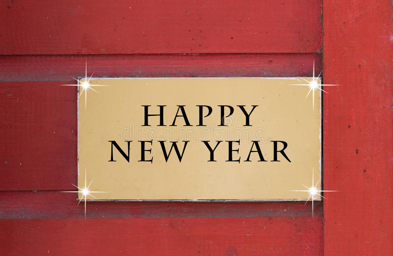 Happy New Year's text card royalty free stock images