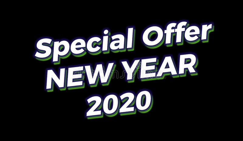 Happy new year sale 2020 template royalty free stock photos