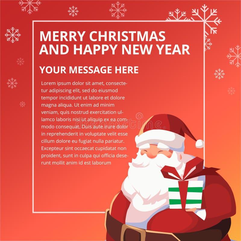 Happy New Year Santa Design Template royalty free stock photo