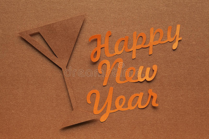 Happy new year - scrapbook background royalty free stock image