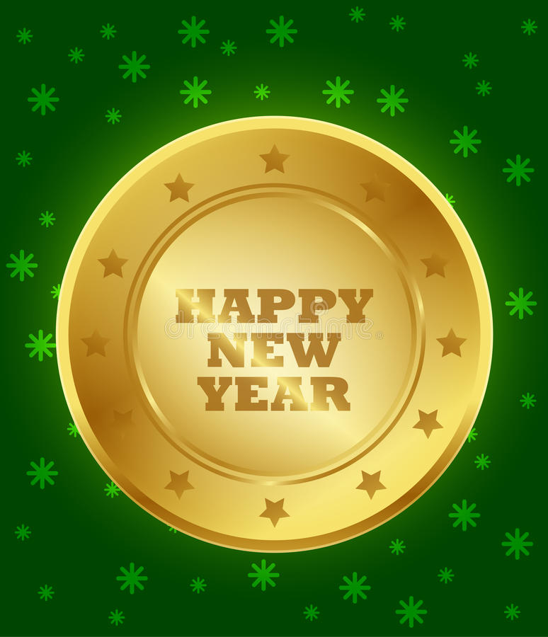 Download Happy New Year Seal stock vector. Illustration of coming - 36072596