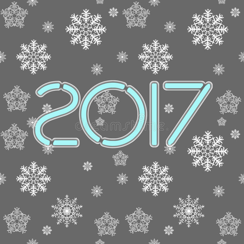 2017. Happy New Year. Seamless pattern. royalty free stock photos