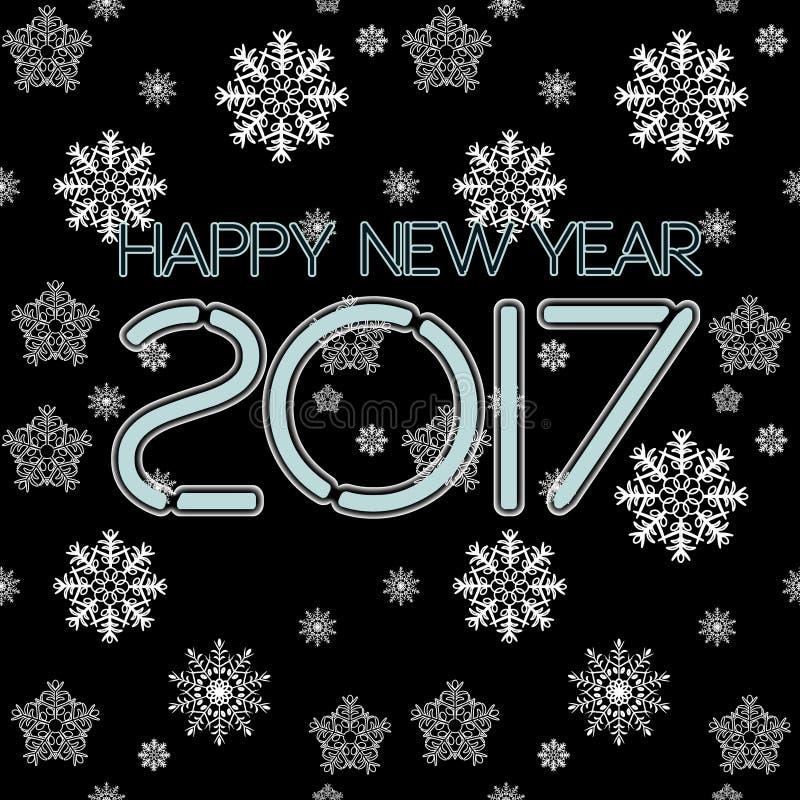 2017. Happy New Year. Seamless pattern. stock photos