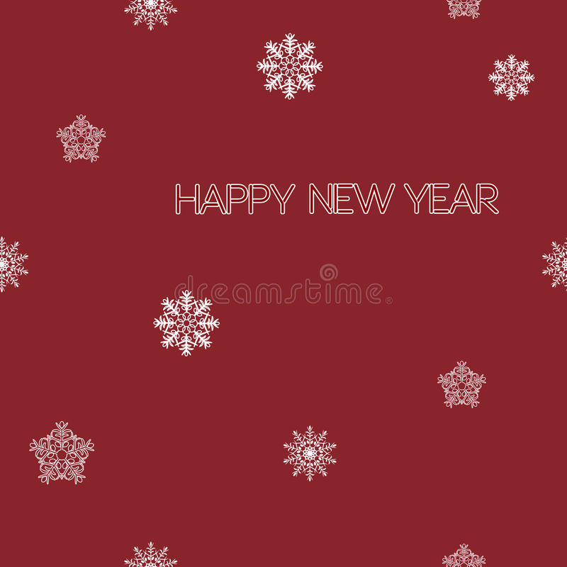 Happy New Year. Seamless pattern with white snowflakes. royalty free stock images