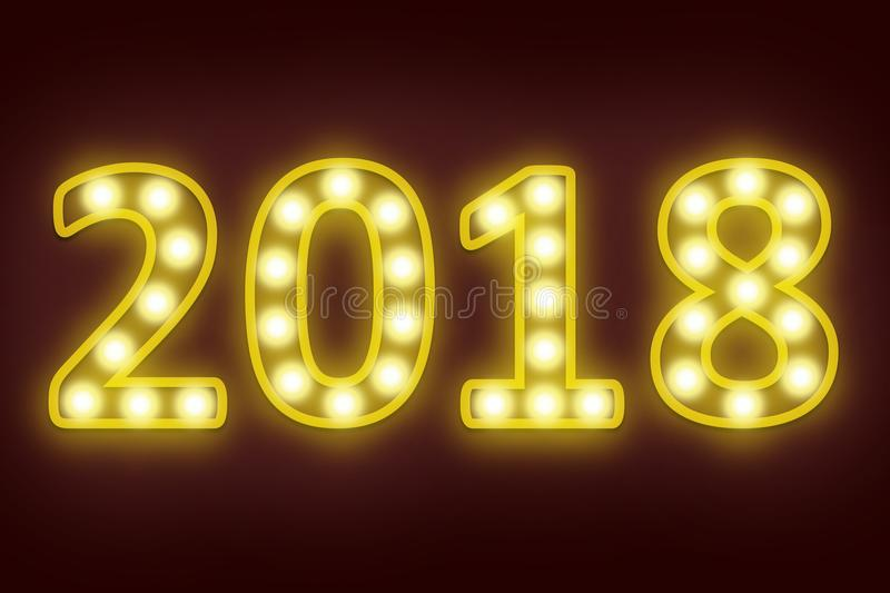2018 happy new year for seasonal and holiday background. royalty free stock photos