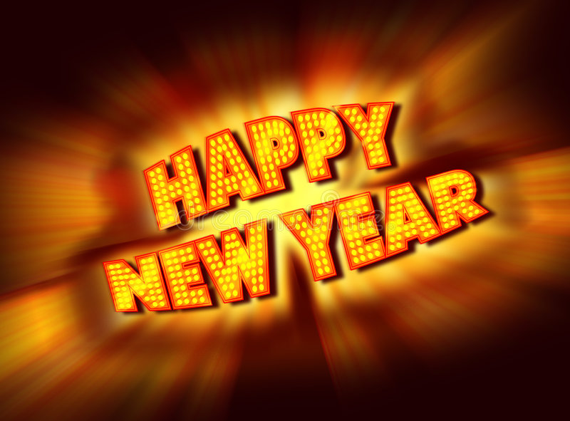 Happy New Year Sign royalty free illustration