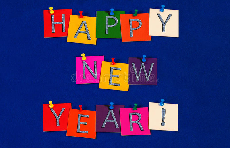 Happy New Year ! Sign for New Years Eve Celebrations royalty free stock image