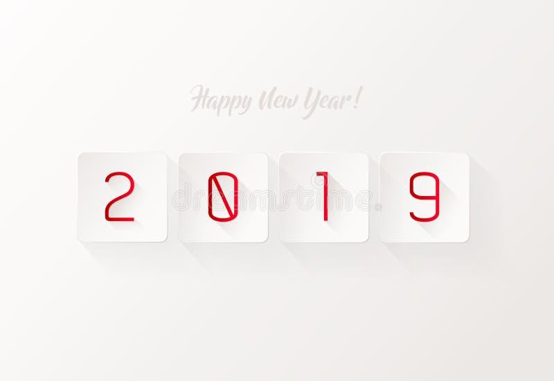 Happy New Year simple illustration greeting card stock illustration