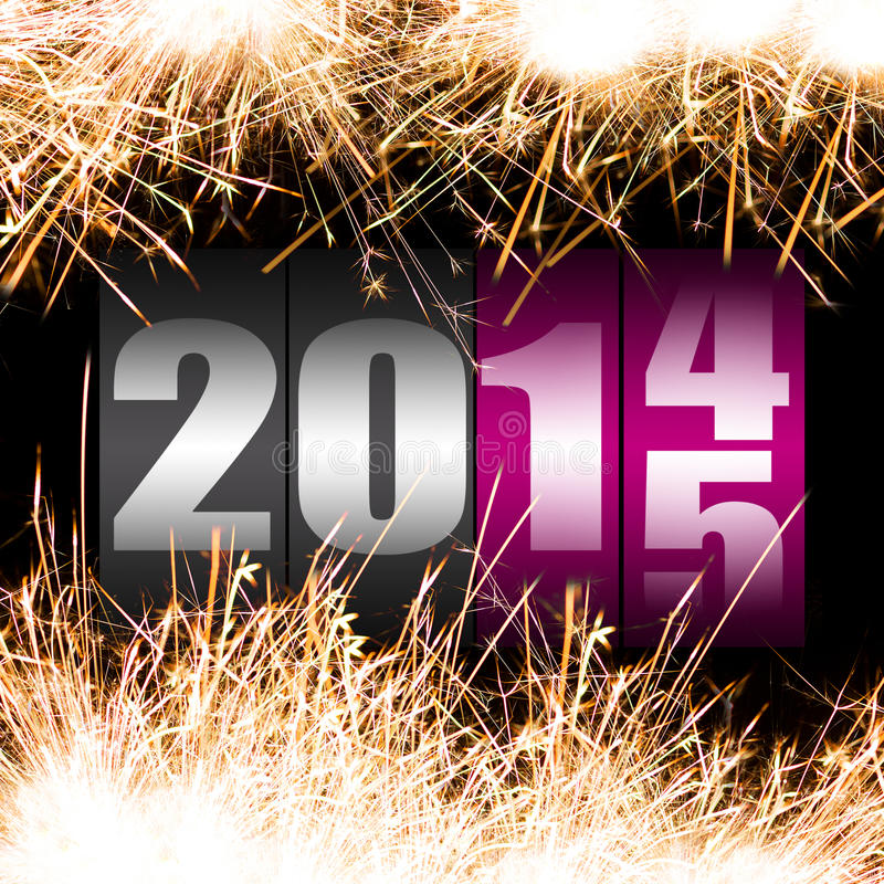 Download Happy New Year 2015 stock illustration. Image of abstract - 37930012