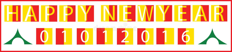 Happy new year 1st jan holiday start begin concept stock illustration