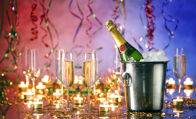 Happy new year. Still life on table royalty free stock image