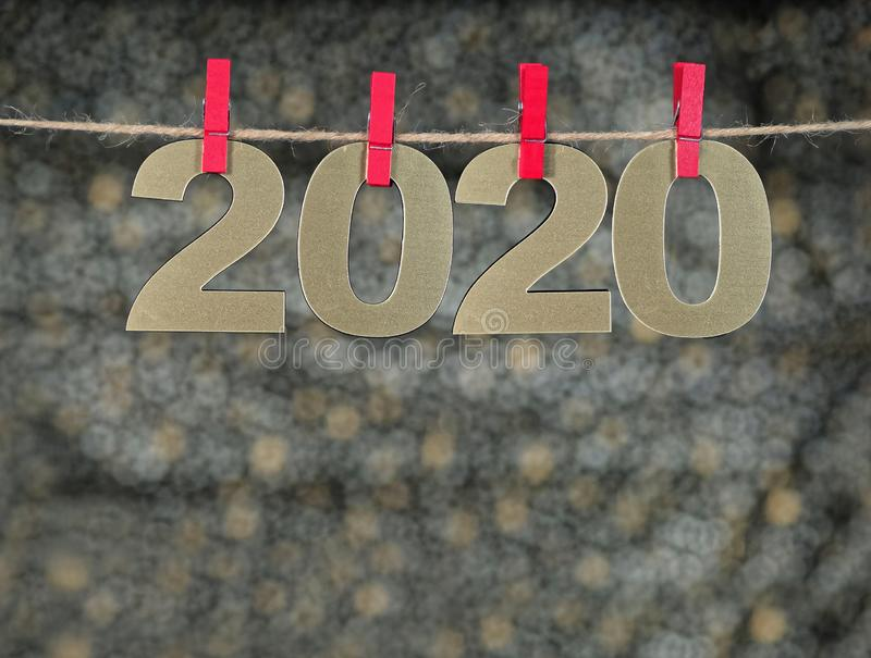 Happy New Year 2020. Symbol from number 2020 on abstract background royalty free stock photos