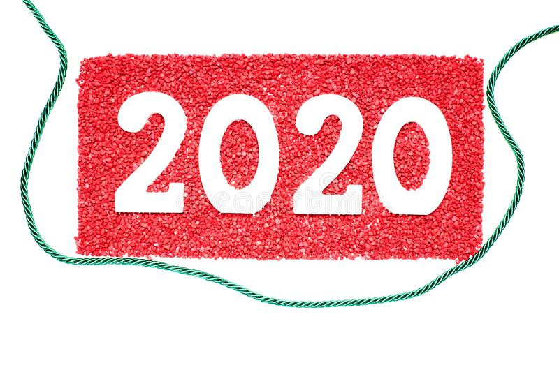 Happy New Year 2020 stock image