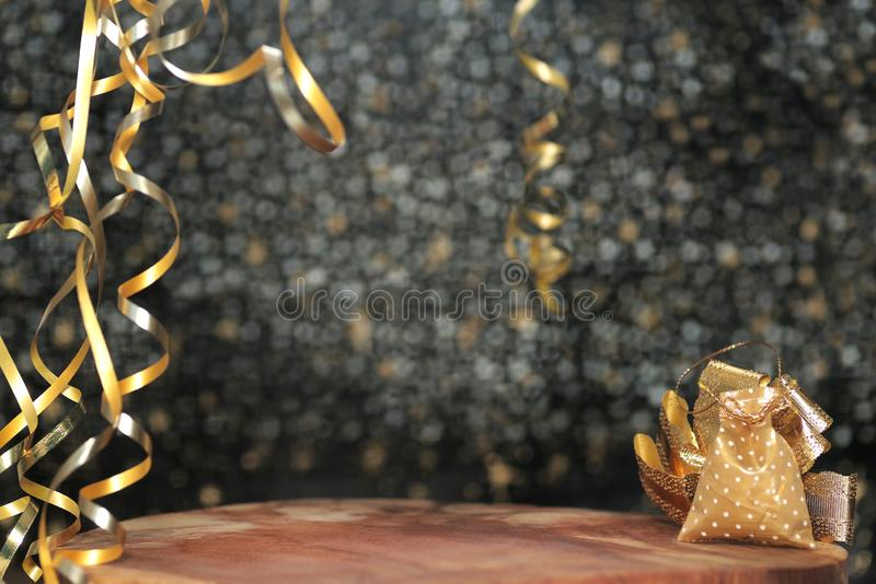 Happy New Year 2020. Symbol from number 2020 on wooden background royalty free stock images