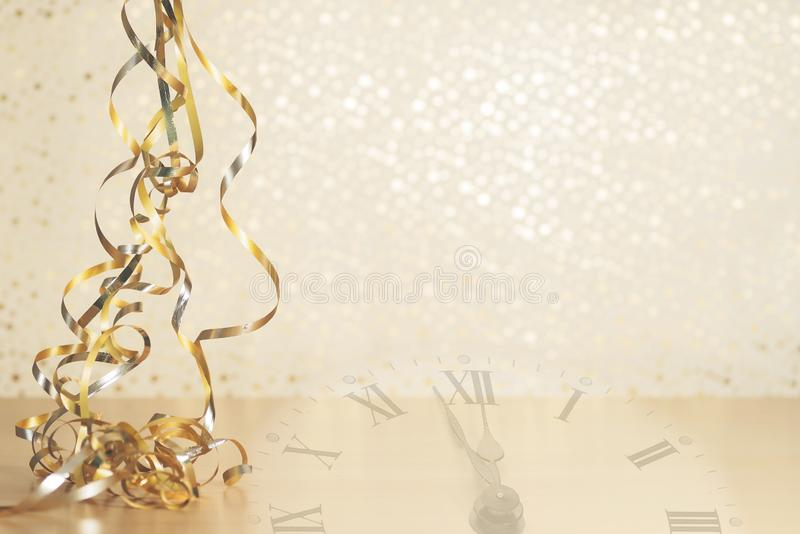 Happy New Year 2020. Symbol from number 2020 on wooden background royalty free stock photos