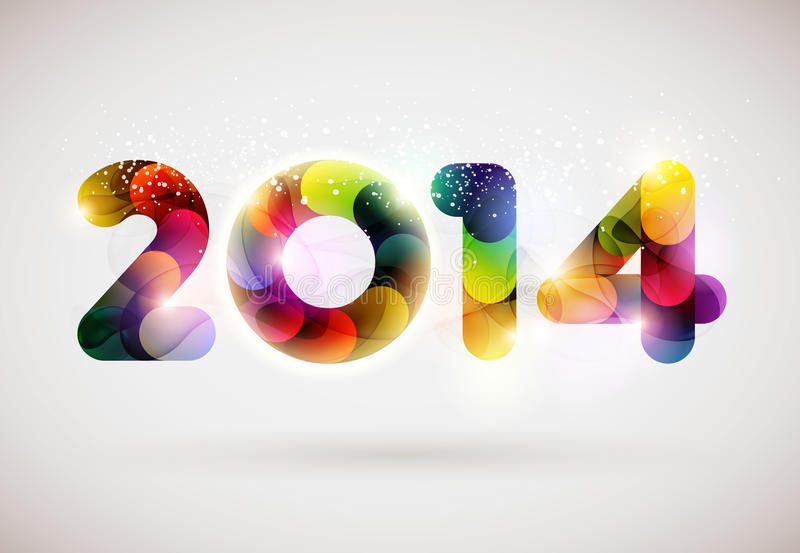 Happy new year 2014. Text Design