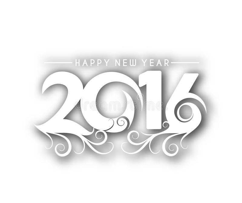 Happy new year 2016. Text Design vector illustration