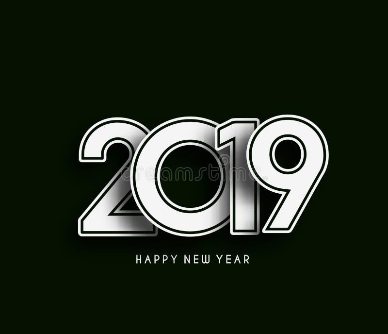 Happy New Year 2019 Text Design Patter, Vector illustration. vector illustration