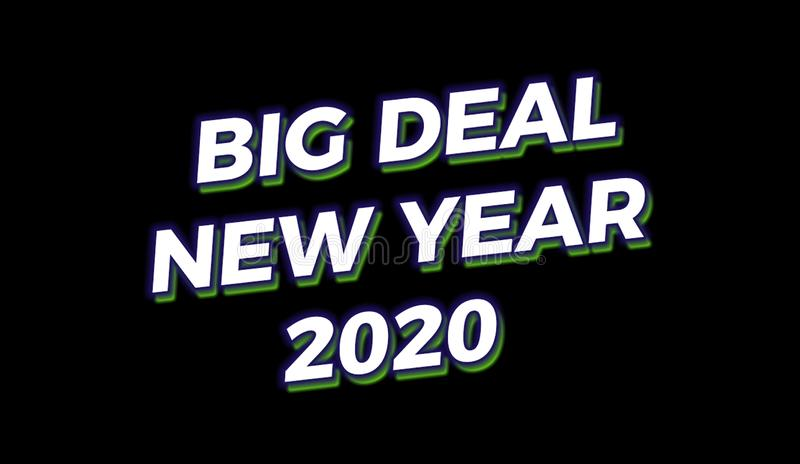 Happy new year sale 2020 template royalty free stock images