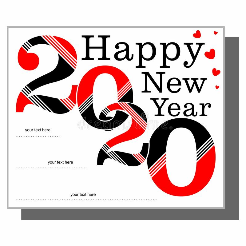 Happy new year 2020 new logo text here royalty free stock image