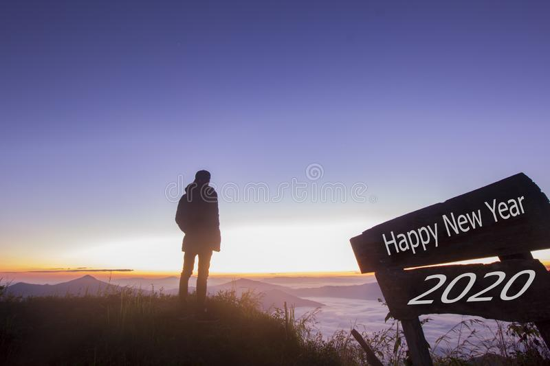 Happy New Year 2020 stock photo