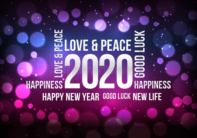 Happy New Year 2020 to you. Happy New Year 2020, wish you all the best as always in this coming new year vector illustration