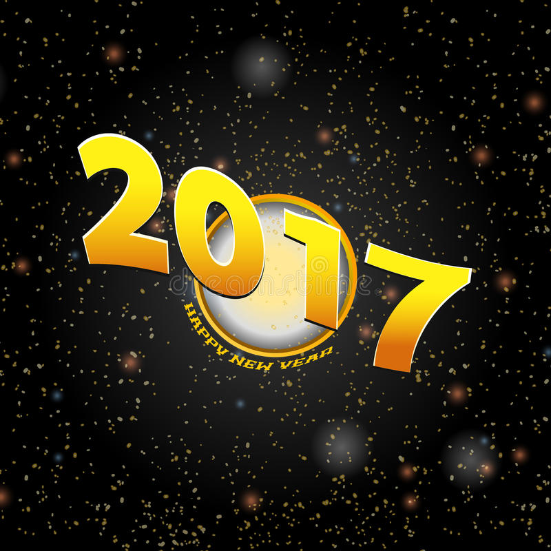 Happy New Year Twenty Seventeen background vector illustration