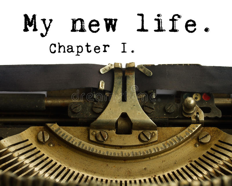 Happy new year typewriter. Happy new 2015 year words on typewriter stock photo
