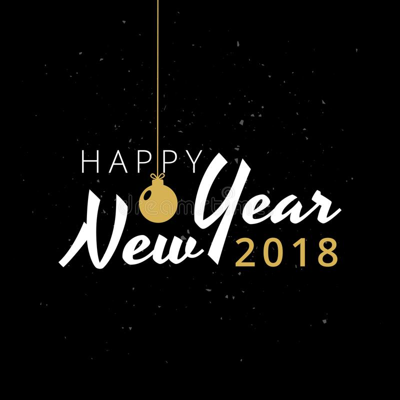 2018 Happy New Year typography. Vector illustration royalty free illustration