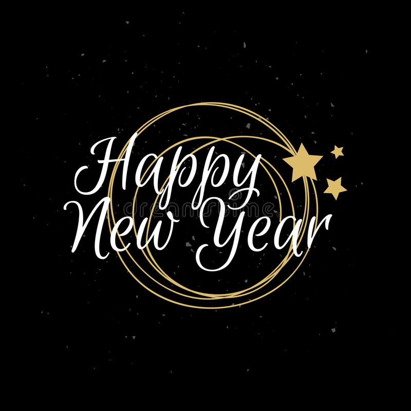 Happy New Year typography. Vector illustration stock illustration