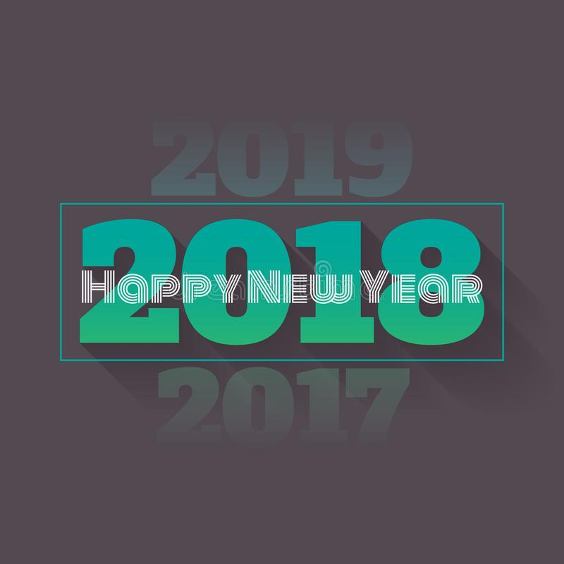 Happy New Year 2018 with Vanishing 2017 and 2019 - Vector Illustration vector illustration