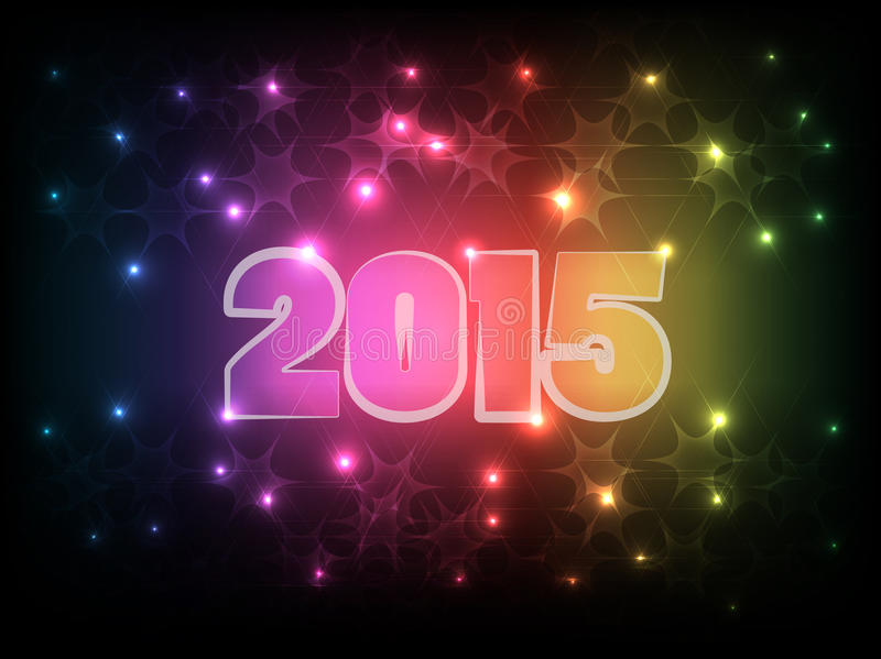Happy New Year 2015_01 stock illustration