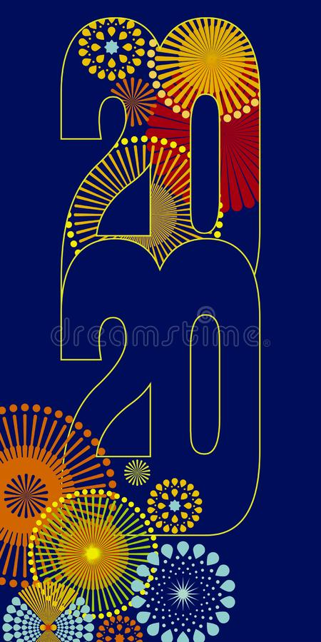Happy new year 2020 vector background royalty free stock photo