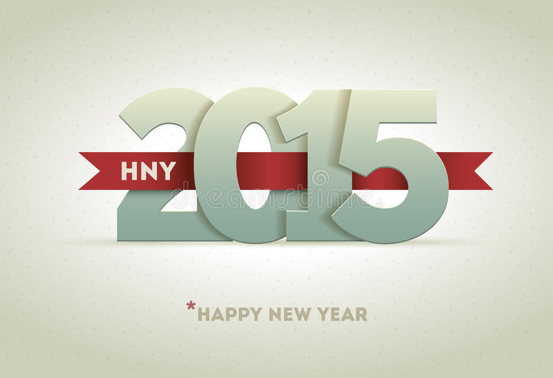 2015 Happy New Year. Vector greeting card design element
