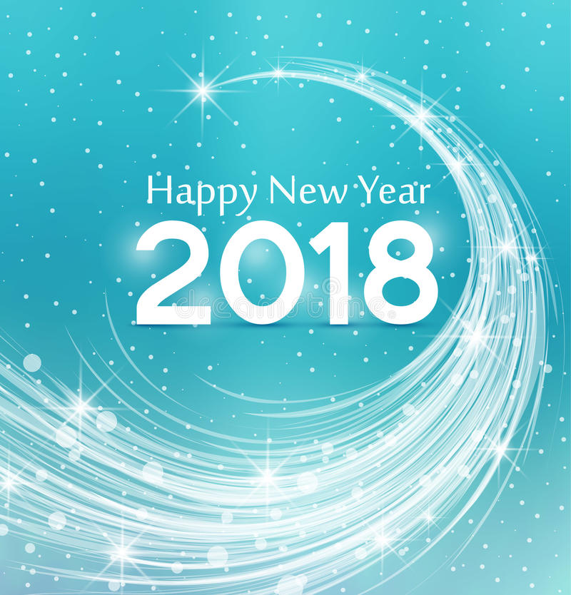 Happy New Year 2018 stock images