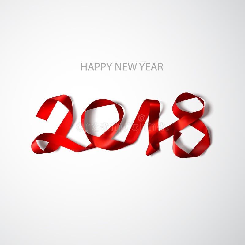 Happy new year 2018 vector illustration. Design element stock illustration